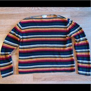 Earthtones Rainbow sweater linen blend